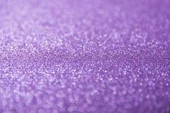 Abstraktes violettes bokeh Stockfoto