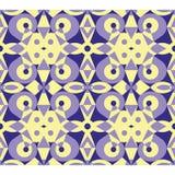 Abstraktes violettes geometrisches nahtloses Muster Lizenzfreie Stockfotografie