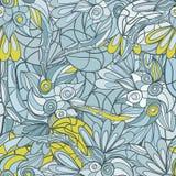 Abstraktes von Hand gezeichnet Muster nahtloses Gekritzel taxture Lizenzfreies Stockbild