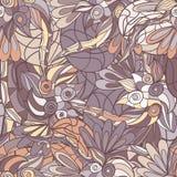 Abstraktes von Hand gezeichnet Muster nahtloses Gekritzel taxture Stockbild