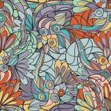 Abstraktes von Hand gezeichnet Muster nahtloses Gekritzel taxture Lizenzfreie Stockfotos