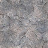 Abstraktes von Hand gezeichnetes Muster der Weinlese, Schmutzwellen Lizenzfreie Stockfotos