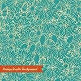 Abstraktes von Hand gezeichnetes nahtloses Blumenmuster Stockfotos