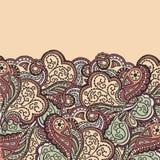 Abstraktes von Hand gezeichnetes Wellenmuster Lizenzfreie Stockfotografie