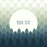 Abstraktes Walddesign mit Textbox für Ihren Inhalt Stockfotografie