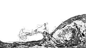 Abstraktes Wasser-Spritzen auf weißem Hintergrund Stockfoto