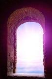 Abstraktes Wassersonnenaufgangfenster Lizenzfreies Stockbild