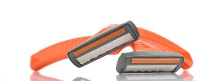 Abstraktes wegwerfbares Rasiermesser mit Reflexion Lizenzfreies Stockfoto