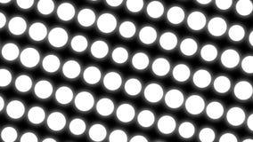 abstraktes Weiß kreist Hintergrund ein weiße Elemente stock video