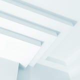 Abstraktes weißes Architekturfragment, Design Lizenzfreies Stockfoto
