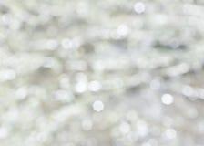 Abstraktes weißes Hintergrund bokeh Stockbilder