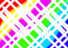 Abstraktes weißes Ineinander greifen bunt Stockfotos