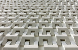 Abstraktes Weißzementblock-Wandmuster Lizenzfreies Stockfoto