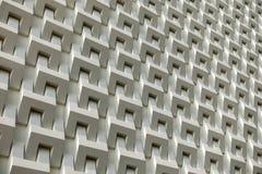 Abstraktes Weißzementblock-Wandmuster Stockfotografie