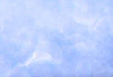 Abstraktes weiches blaues bokeh Stockbilder