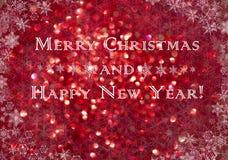 Abstraktes Weihnachten unscharfer Hintergrund Stockfoto