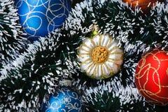 Abstraktes Weihnachts- oder des neuen Jahreshintergrund Stockfoto