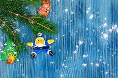 Abstraktes Weihnachts- und des neuen Jahreshintergrund Stockfoto