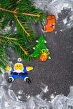 Abstraktes Weihnachts- und des neuen Jahreshintergrund Lizenzfreie Stockbilder