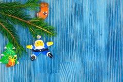 Abstraktes Weihnachts- und des neuen Jahreshintergrund Lizenzfreies Stockbild