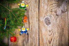 Abstraktes Weihnachts- und des neuen Jahreshintergrund Stockbild