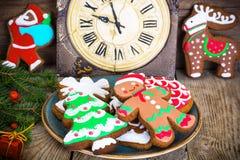 Abstraktes Weihnachts- und des neuen Jahreshintergrund Lizenzfreies Stockfoto