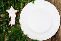 Abstraktes Weihnachts-und neues Jahr-Hintergrund mit altem Weinlese-Holz Stockfotos