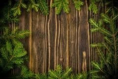 Abstraktes Weihnachts-und neues Jahr-Hintergrund mit altem Weinlese-Holz Lizenzfreies Stockbild