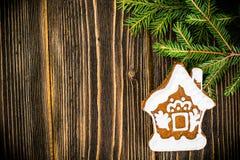 Abstraktes Weihnachts-und neues Jahr-Hintergrund mit altem Weinlese-Holz Lizenzfreies Stockfoto