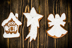 Abstraktes Weihnachts-und neues Jahr-Hintergrund mit altem Weinlese-Holz Lizenzfreie Stockfotografie