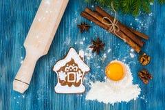 Abstraktes Weihnachts-und neues Jahr-Hintergrund mit altem Weinlese-Holz Lizenzfreie Stockfotos