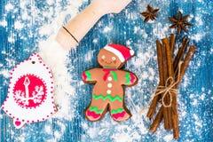 Abstraktes Weihnachts-und neues Jahr-Hintergrund mit altem Weinlese-Holz Stockfoto