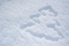 Abstraktes Weihnachtsbaumbild auf Schnee im Winter Lizenzfreie Stockfotografie