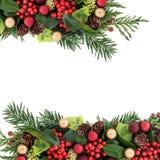 Abstraktes Weihnachtsblumengrenze Lizenzfreie Stockbilder
