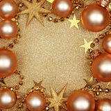 Abstraktes Weihnachtsgoldener Hintergrund Stockfotos