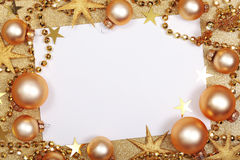 Abstraktes Weihnachtsgoldener Hintergrund Lizenzfreie Stockfotos