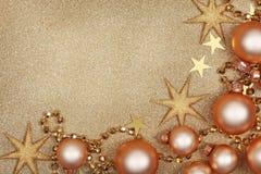 Abstraktes Weihnachtsgoldener Hintergrund Stockfotografie