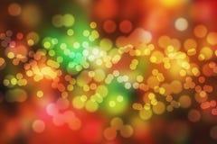 Abstraktes Weihnachtshintergrund bokeh Lizenzfreies Stockfoto