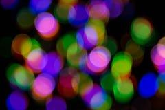 Abstraktes Weihnachtslicht bokeh Lizenzfreie Stockfotografie