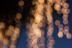 Abstraktes Weihnachtslicht oder Hintergrund des neuen Jahres Lizenzfreies Stockbild