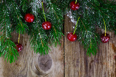 Abstraktes Weihnachtsnatürlicher Hintergrund in Grey Boards Stockbild