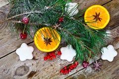 Abstraktes Weihnachtsnatürlicher Hintergrund in Grey Boards Lizenzfreies Stockfoto