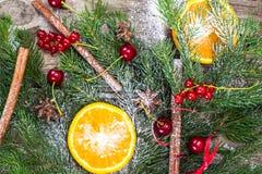 Abstraktes Weihnachtsnatürlicher Hintergrund in Grey Boards Lizenzfreie Stockbilder