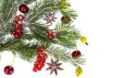 Abstraktes Weihnachtsnatürlicher Hintergrund im Weiß Lizenzfreies Stockbild