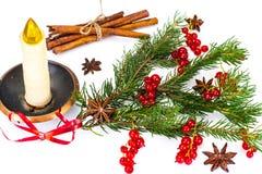 Abstraktes Weihnachtsnatürlicher Hintergrund im Weiß Stockfotos