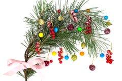Abstraktes Weihnachtsnatürlicher Hintergrund im Weiß Lizenzfreies Stockfoto