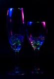 Abstraktes Weinglas Lizenzfreies Stockfoto