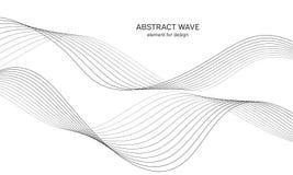Abstraktes Wellenelement für Design Digital-Frequenz-Bahn-Entzerrer Stilisierte Linie Kunsthintergrund Auch im corel abgehobenen  Stockbild