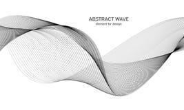 Abstraktes Wellenelement für Design Digital-Frequenz-Bahn-Entzerrer Stilisierte Linie Kunsthintergrund Auch im corel abgehobenen  Lizenzfreies Stockfoto