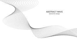Abstraktes Wellenelement für Design Digital-Frequenz-Bahn-Entzerrer Stilisierte Linie Kunsthintergrund Auch im corel abgehobenen  Lizenzfreie Stockbilder